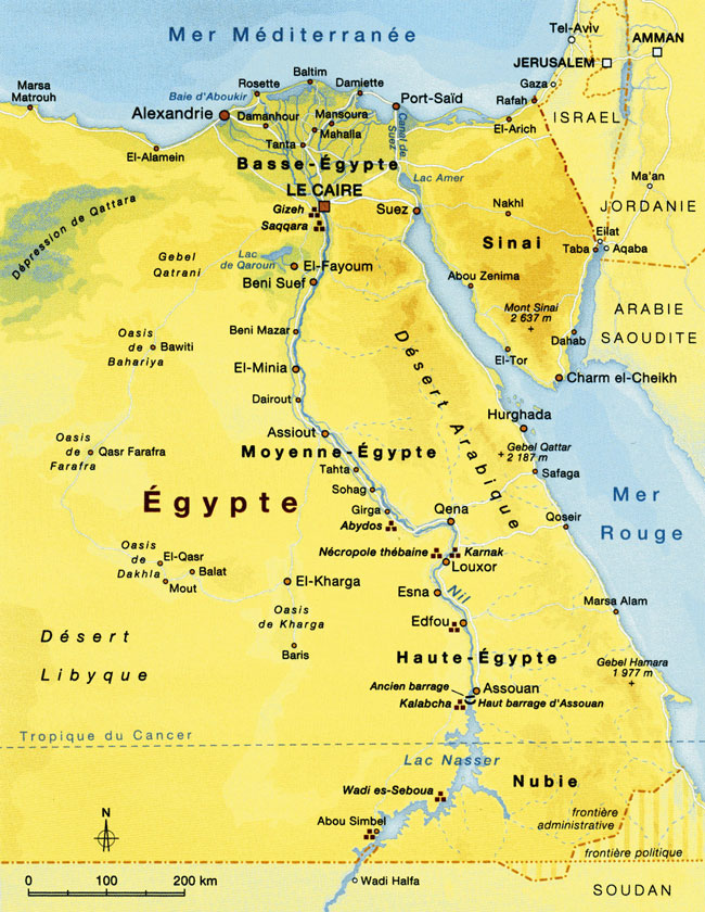 carte-egypte-aujourd-hui
