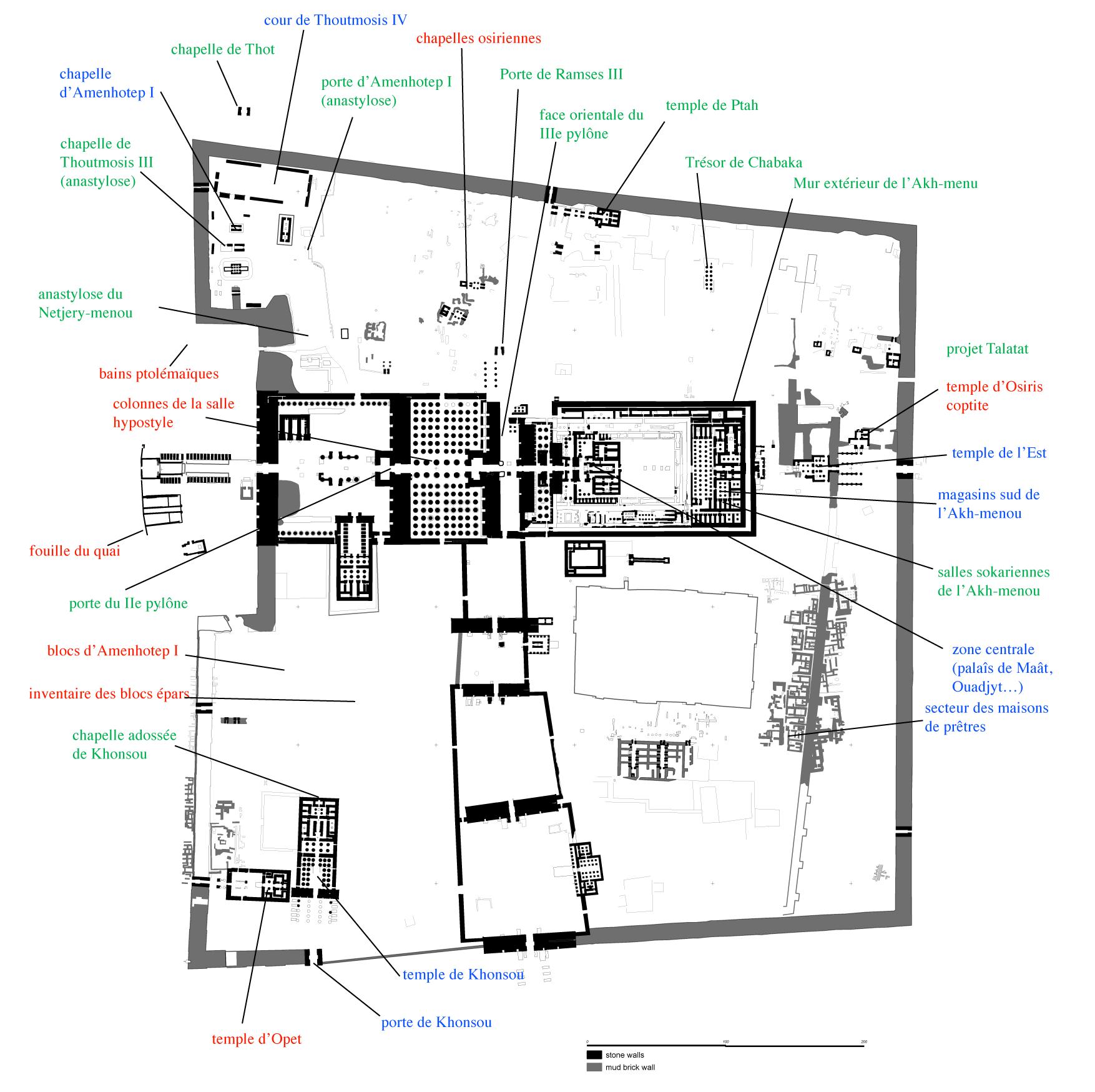 Plan du site de Karnak